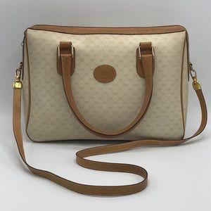 Gucci Vintage GG Monogram Crossbody Shoulder Bag